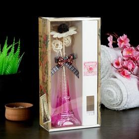 """Набор подарочный """"Эйфелева башня"""" (ваза, 2 палочки с шариками, декор, аромамасло 30 мл), аромат роза"""