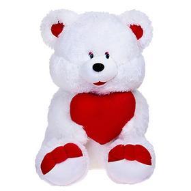 Мягкая игрушка «Медведь белый, с сердцем», МИКС