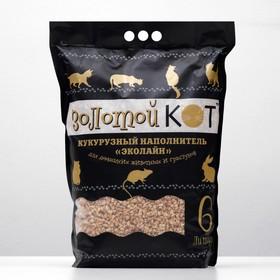Наполнитель кукурузный 'Золотой кот', фракция 6-10 мм, 6 л Ош