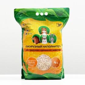 Наполнитель кукурузный «Золотой кот», гранулированный, 4 л Ош