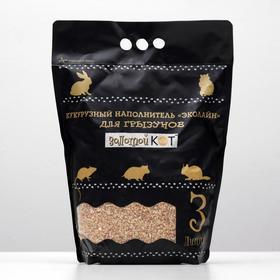 Наполнитель кукурузный 'Золотой кот' для грызунов, фракция 3-6 мм, 3 л Ош