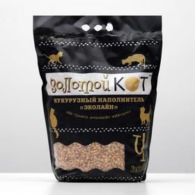 Наполнитель кукурузный 'Золотой кот', фракция 6-10 мм, 4 л Ош