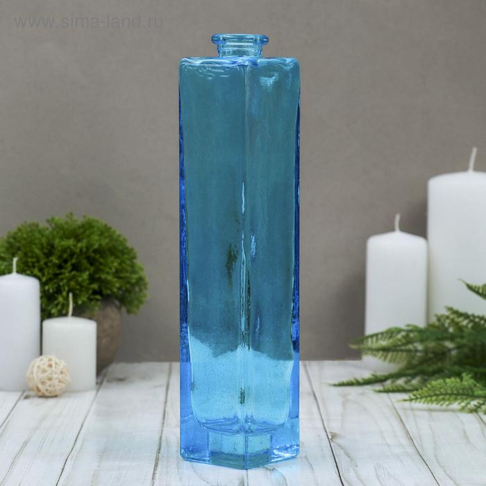 "Ваза ""Нарцисс"" голубая, прозрачная 0,45 л"