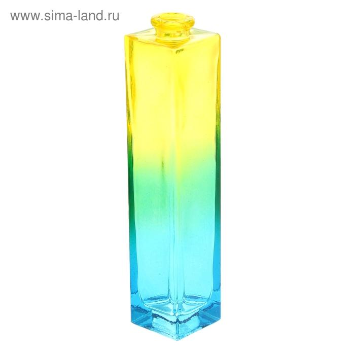 """Ваза """"Нарцисс"""" радуга, жёлто-голубая, 0,45 л"""