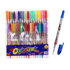 Набор гелевых ручек с блёстками 36 цветов, корпус с рисунком, в блистере, на кнопке