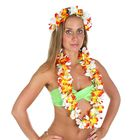 """Гавайский набор """"Цветы"""", 2 предмета: венок, ожерелье"""