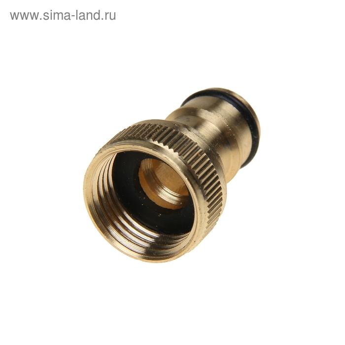 """Коннектор стартовый, d=1/2"""" (12 мм), внутренняя резьба, латунь"""