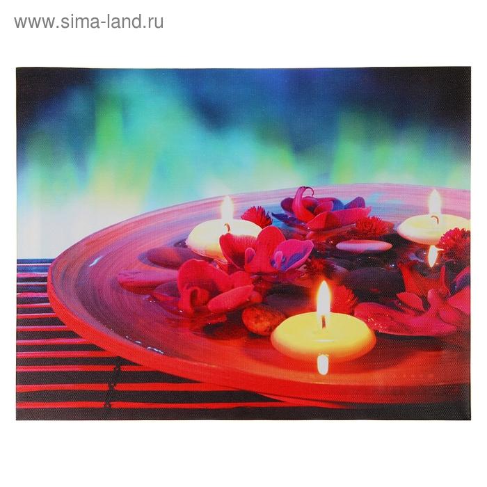"""Световая картина """"Релакс"""" (цветы в чаше)"""