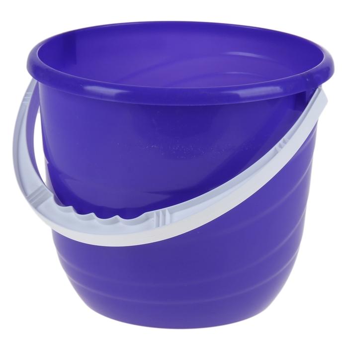 Ведро без крышки Practic, 10 л, цвет лазурно-синий