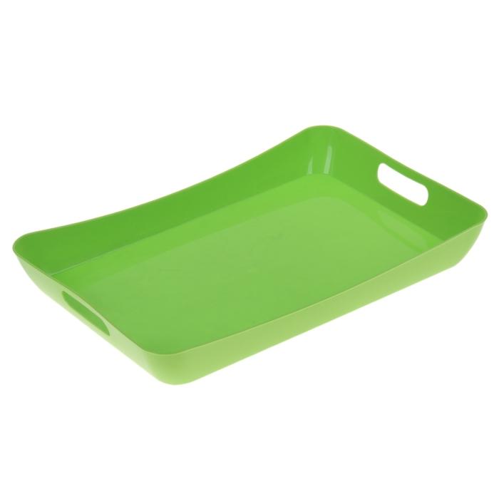 Поднос 42,2×28,2×5,2 см Funny, цвет салатовый