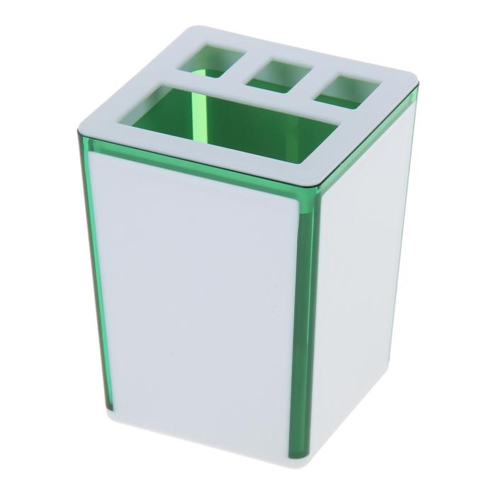 """Подставка для зубных щеток """"Spacy"""", цвет зеленый"""