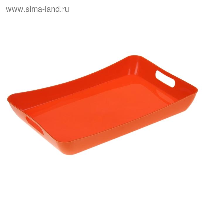 Поднос 42,2×28,2×5,2 см Funny, цвет мандарин