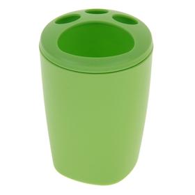 Подставка для зубных щёток Aqua, цвет зелёный Ош
