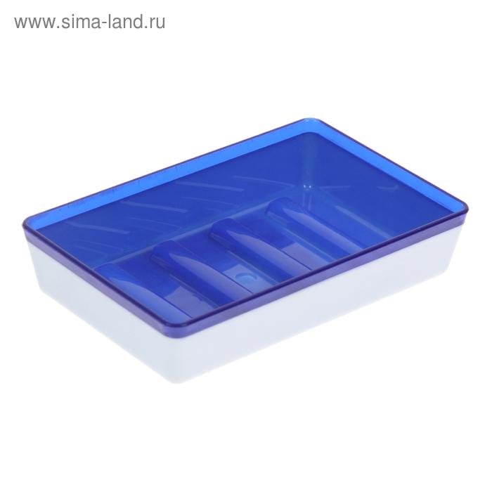 Мыльница Spacy, цвет синий полупрозрачный