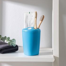 Подставка для зубных щёток Aqua, цвет голубая лагуна