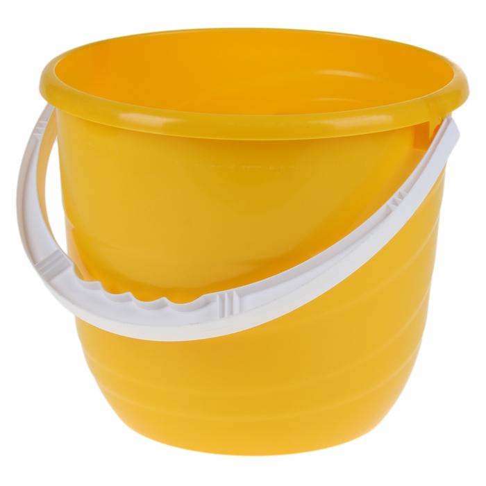 Ведро, 10 л, цвет жёлтый