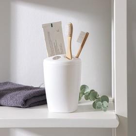 Подставка для зубных щёток Aqua, цвет снежно-белый