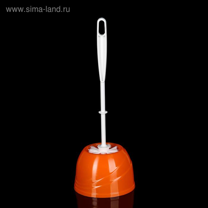 Ерш для унитаза с подставкой Aqua, цвет мандарин
