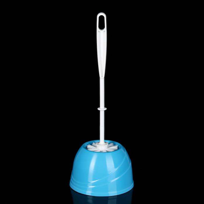 Ерш для унитаза с подставкой Aqua, цвет голубая лагуна