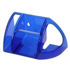 Полка для туалета, цвет синий