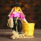Баба яга на подставке с ведром, цвета МИКС