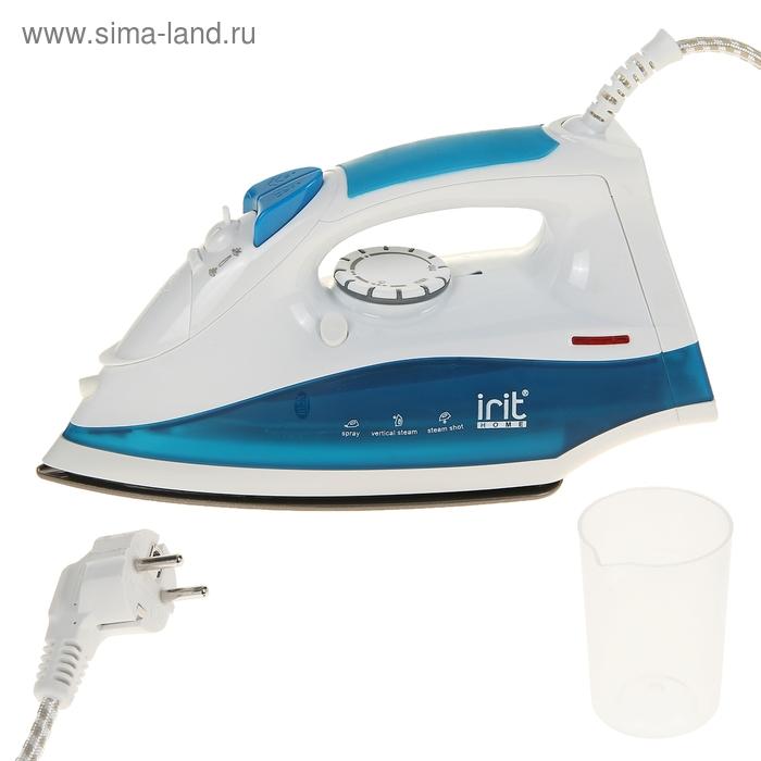 Утюг электрический Irit IR-2222, 2000 Вт, антипригарное покрытие, самоочистка