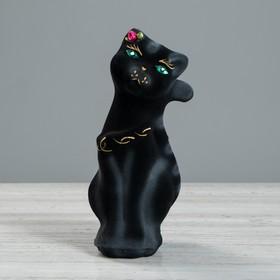 "Копилка ""Кошка Тома"", флок, чёрная, 22 см"