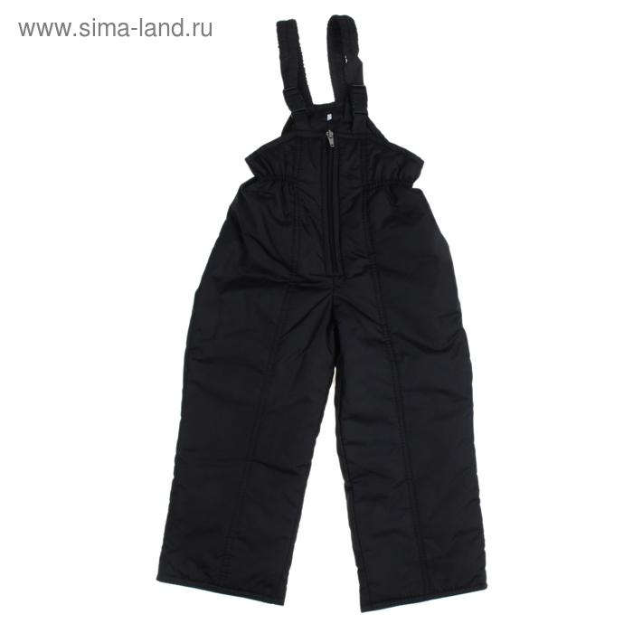 Полукомбинезон для мальчика 50304 рост 122-128 (34), цвет черный