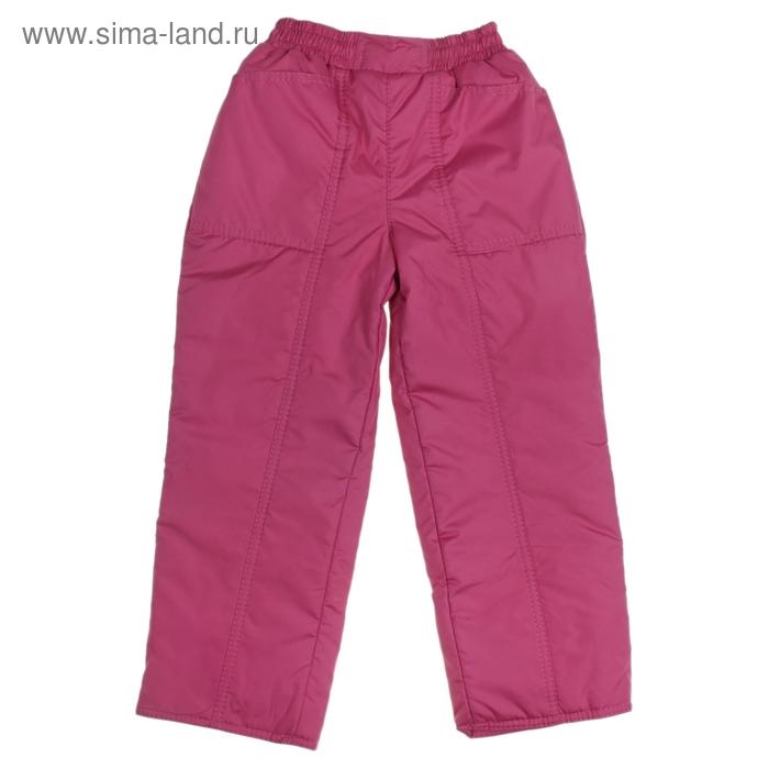 Брюки для девочки 60201 рост 104-110 (28), цвет светло-бордовый