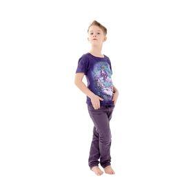 Футболка детская Collorista 3D Winter tale, возраст 12-14 лет, рост 152-158 см, цвет фиолетовый