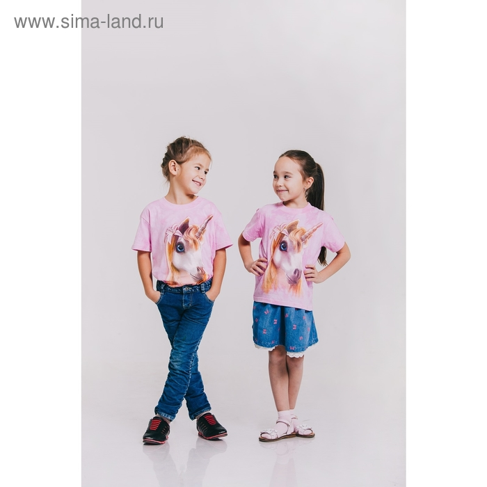 Футболка детская Collorista 3D Pretty, возраст 4-6 лет, рост 110-122 см, цвет розовый