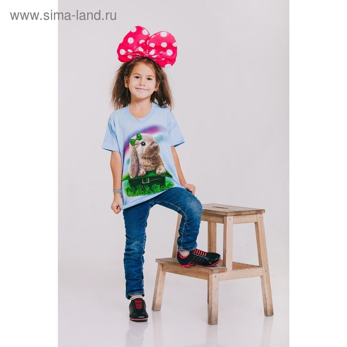 Футболка детская Collorista 3D Rabbit, возраст 10-12 лет, рост 146-152 см, цвет голубой
