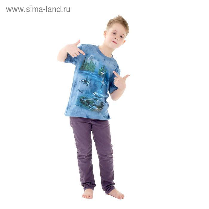 Футболка детская Collorista 3D World, возраст 10-12 лет, рост 146-152 см, цвет синий
