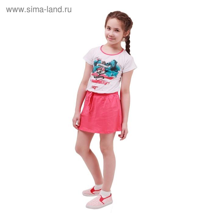 Платье с коротким рукавом для девочки, рост 146 см (11 лет), цвет микс Л214