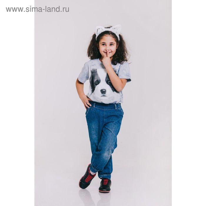 Футболка детская Collorista 3D Puppy, возраст 10-12 лет, рост 146-152 см, цвет серый