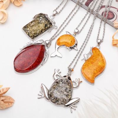 """Pendant """"amber"""" shape MIX, the color MIX, 60 cm"""