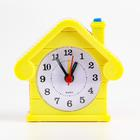 "Alarm clock ""House"" illuminated 9х8.5 cm mix"