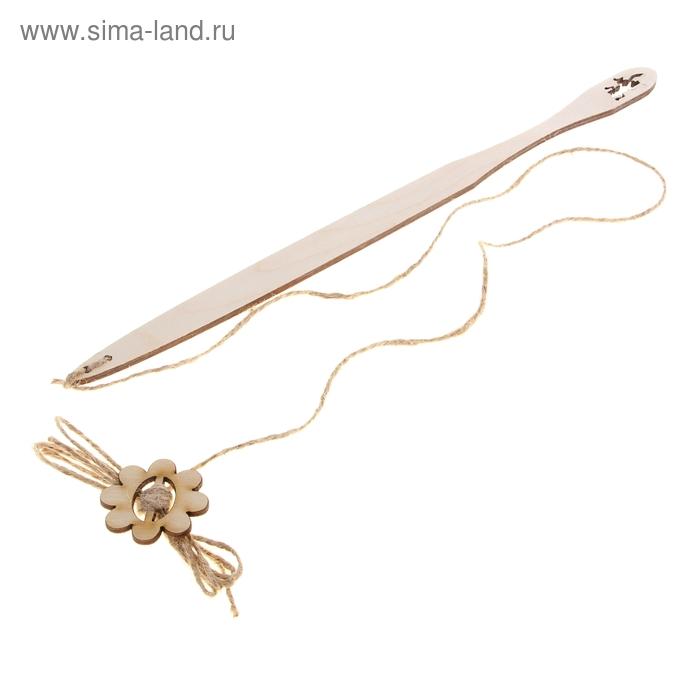 Дразнилка с деревянной ручкой  и игрушкой для кошек, длина 30 см