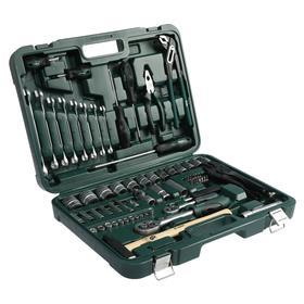Набор инструментов в кейсе TUNDRA, автомобильный, CrV, 72 предмета
