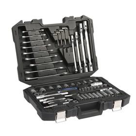 Набор инструментов в кейсе TUNDRA, автомобильный, CrV, 80 предметов