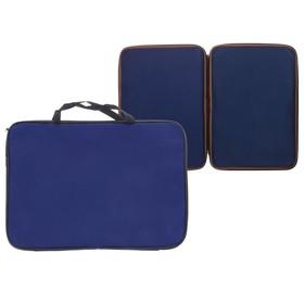 Папка А3 с ручками, текстиль, 20 мм, Стандарт, 475 х 340 мм, Calligrata, синяя