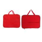 Папка с ручками текстиль А4, 350*275*20 Офис с карманом, Красная