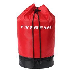 Сумка для сменной обуви с круглым дном и дополнительным отделением на молнии, 410 х 335 мм, чёрно-красная