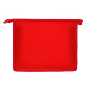 Папка пластиковая А5, молния сверху, «Офис», цветная, текстура поверхности «песок», ПМ-А5-00, красная