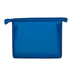 Папка пластиковая А5, молния сверху, «Офис», цветная, текстура поверхности «песок», ПМ-А5-00, синяя