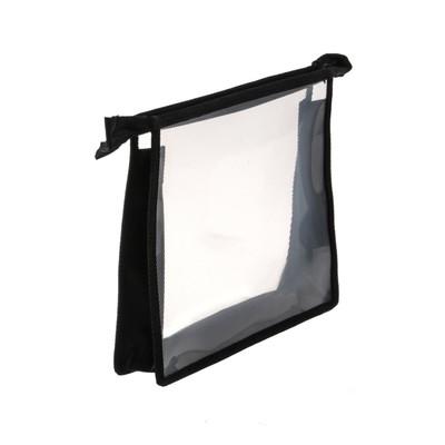 Папка пластиковая А5, молния сверху, прозрачная, «Офис», ПМ-А5-00, чёрная