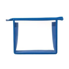 Папка пластиковая А5, молния сверху, прозрачная, «Офис», ПМ-А5-00, синяя