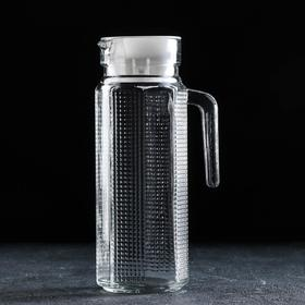 """Carafe with handle """"Ribbed edges"""" of 1 l"""