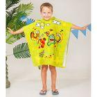 Детское полотенце-пончо с капюшоном