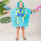 """Детское полотенце-пончо с капюшоном """"Collorista"""" Водолаз 60 х 120 см, хлопок 280 гр/м2"""